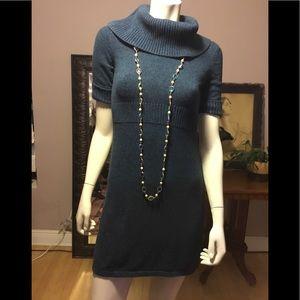 Ann Taylor XS short sleeve blue sweater dress